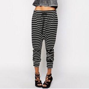 One Teaspoon x UO Striped Weekend Harem Sweatpants